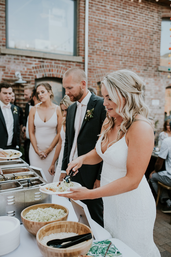 taco bar wedding