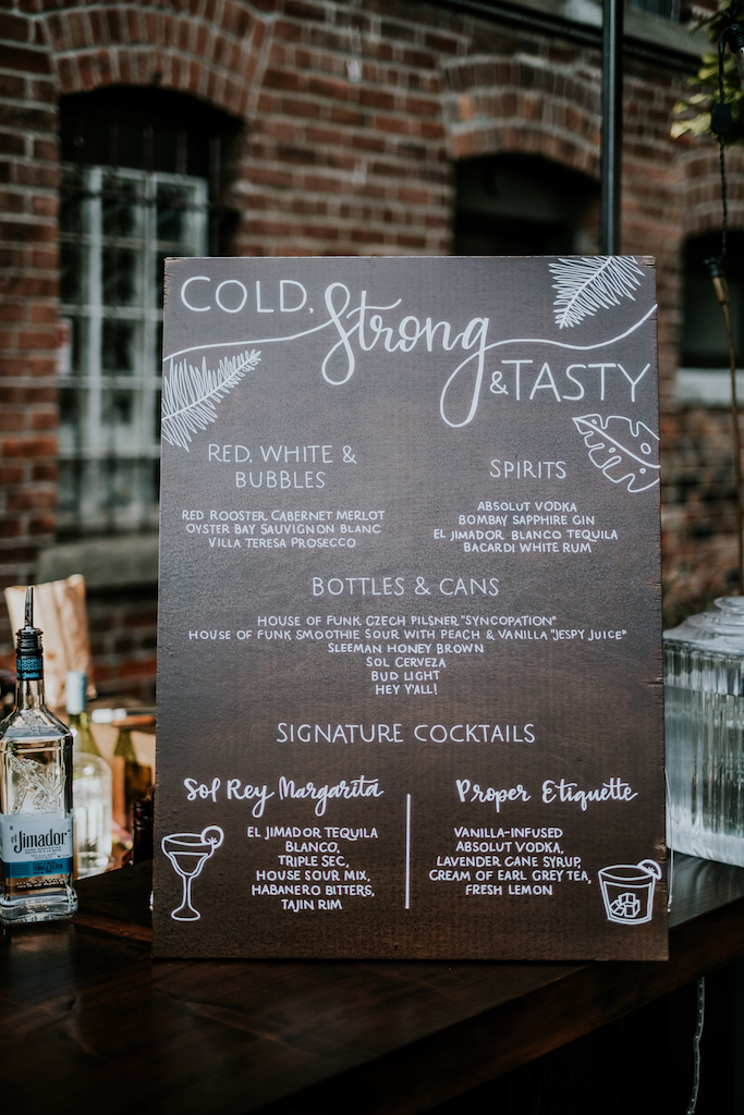 custom cocktail menu