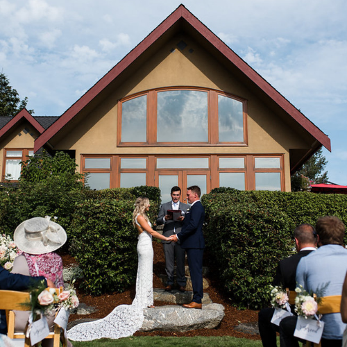 couple ceremony house