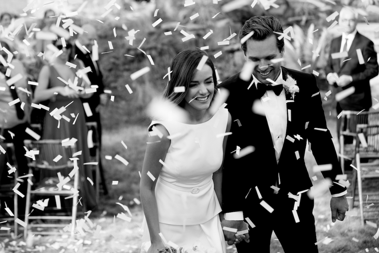 just married confetti