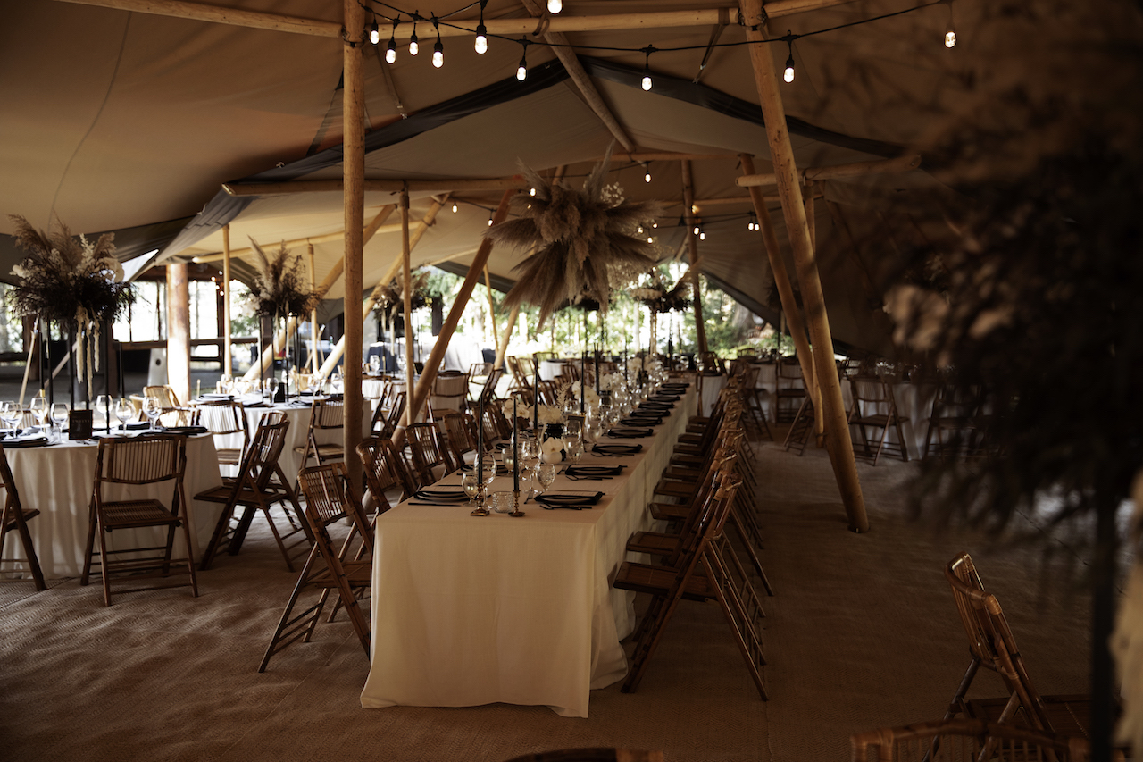 long table tented wedding