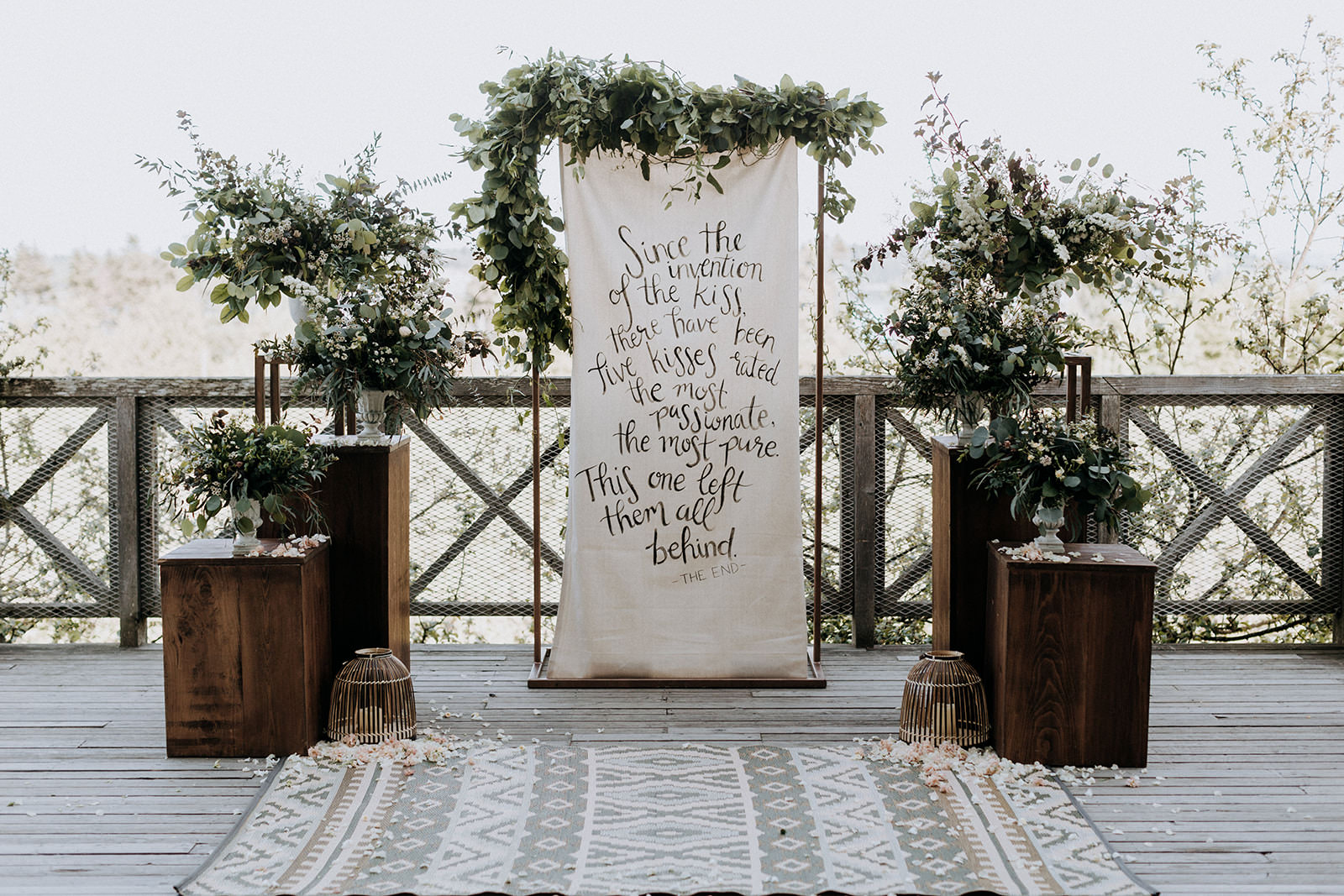 Sea Cider wedding lyrics arch