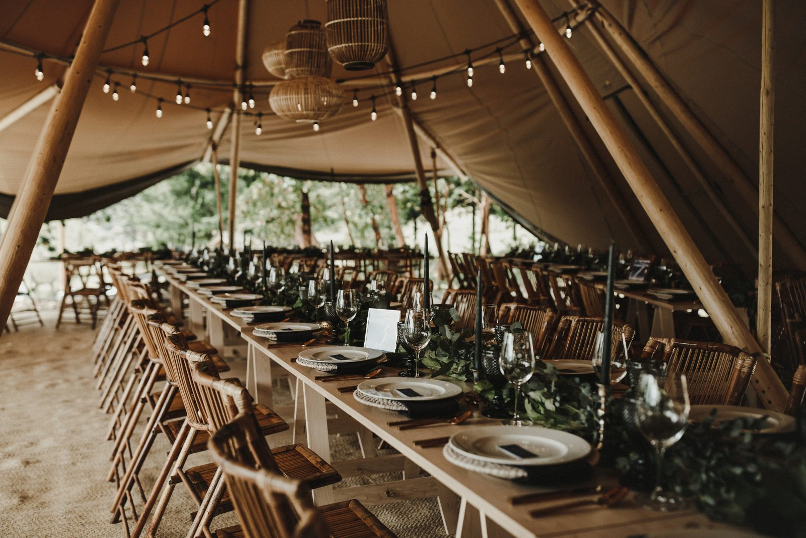 wedding tipi tent Bodega Ridge